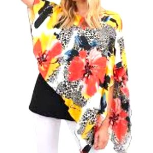 NWT Nygard hot florals size extra large top